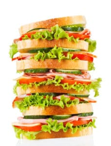 Backwaren großes Sandwich Fotolia