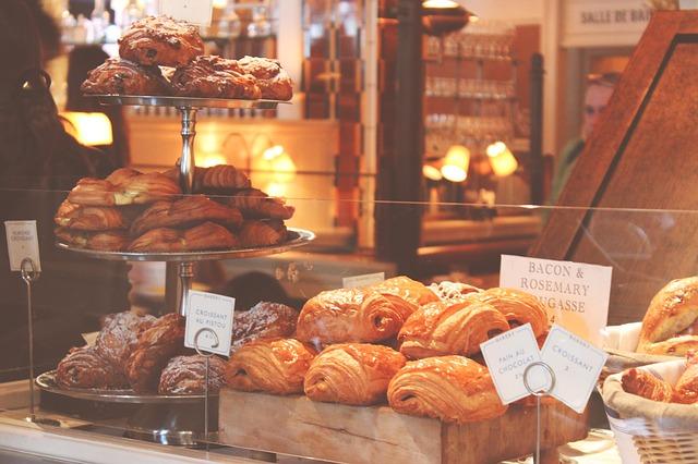Backwaren Bäckerei Beschriftung Croissante