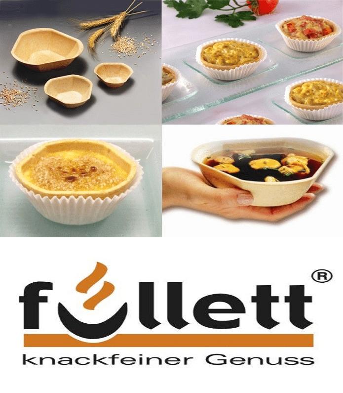 Das Profilbild von Füllett bestehend aus dem Logo und verschiedenen Verpackungen von Füllett