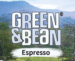Kaffee Gastronomie vom Barista green and bean