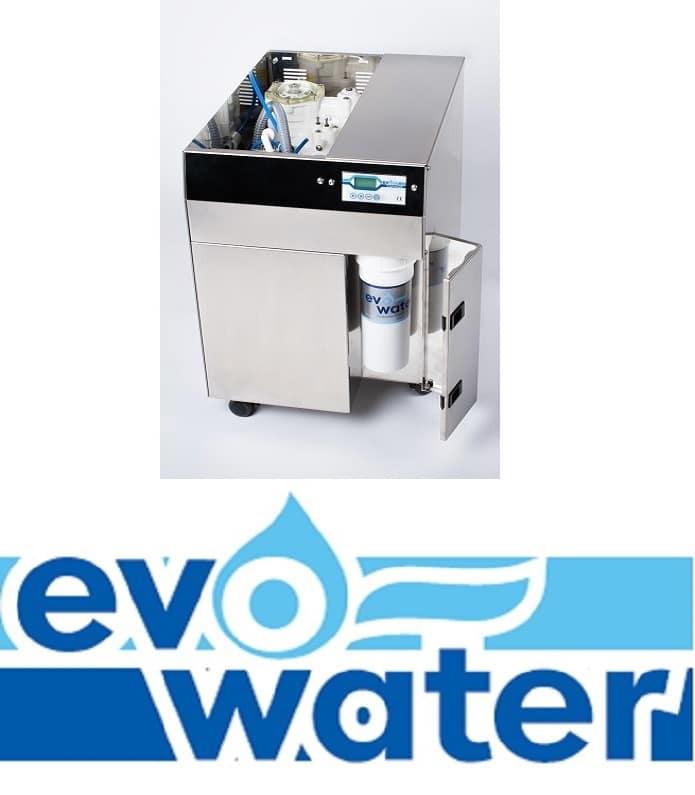 Das Logo von evo water