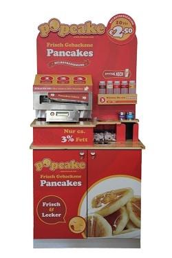 pancake maker merchandiser für den gastronomiebedarf von popcake