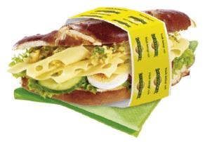 Sandwich Laugen Käse Leerdamer