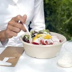 kompostierbare Salatschalen Lebensmittelverpackungen_Duni