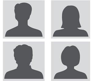 Avatar set. People profile silhouettes