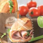 Teils durchsichtige Sandwich Verpackungen von Weber