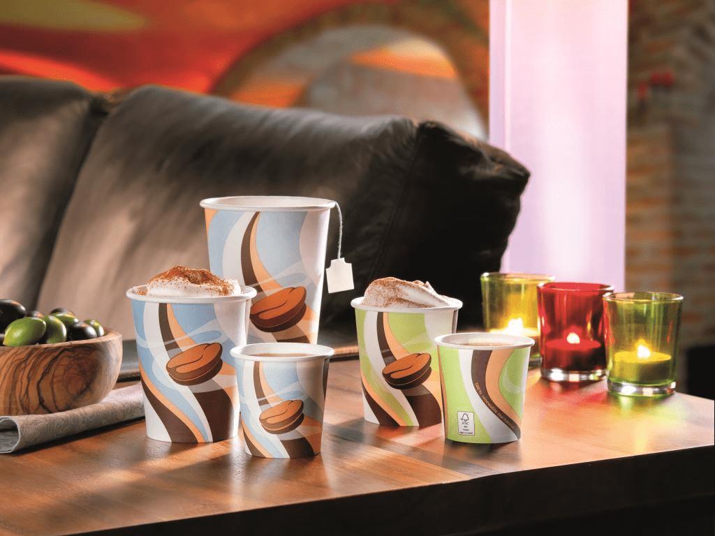 Biologisch abbaubare Kaffeebecher von Pacovis