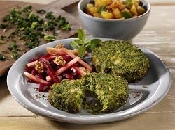 Gemüse Burger-Patty vegan aus Grünkohl und Hanf, TK-Convenience