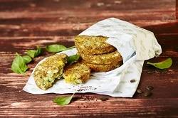 Vegetarisches Burger-Patty aus Kuerbis-Ciasamen, also Gemüse