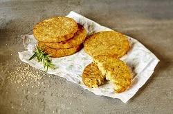 Vegetarische Tiefkühl-Convenience Burger-Patty aus Suesskartoffeln mit Amaranth