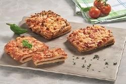 Gefüllte Pizzaschnitten, Tiefkühlbackwaren für die Gastroniomie