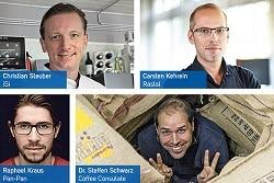 ein Bild aufgeteilt in 4 Segmente in denen 4 Verschiedene Personen gezeigt werden. Links oben: Christian Steuber. Rechts oben: Carsten Kehrein. Links unten: Raphael Kraus. Rechts unten: Dr. Steffen Schwarz