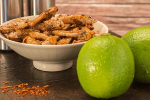 Heuschrecken a la mexicana als Snack