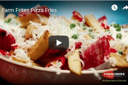 Anwendungsvideo Pommes mit Pizza Toppings