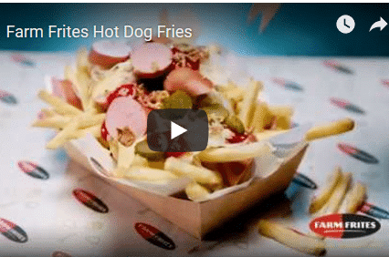 Video Pommes mit Hot Dog Topping