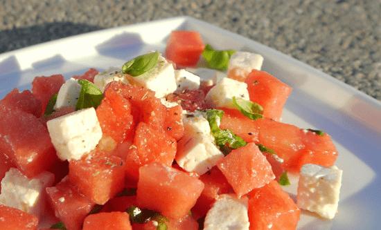 Feta Melonen Salat mit Espresso Pfeffer von Speicher und Consorten