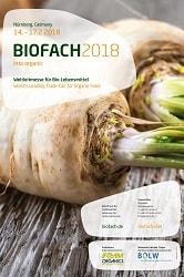 Biofach_Das Bild ist ein werbeplakat von der Biofach 2017. Es ist etwas Text darauf, wie bei einerm Zeitschriftentitel und zwei Enden mit Grünzeug von Pastinaken drauf.