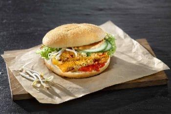 Burger vegetarisch Sauce Develey