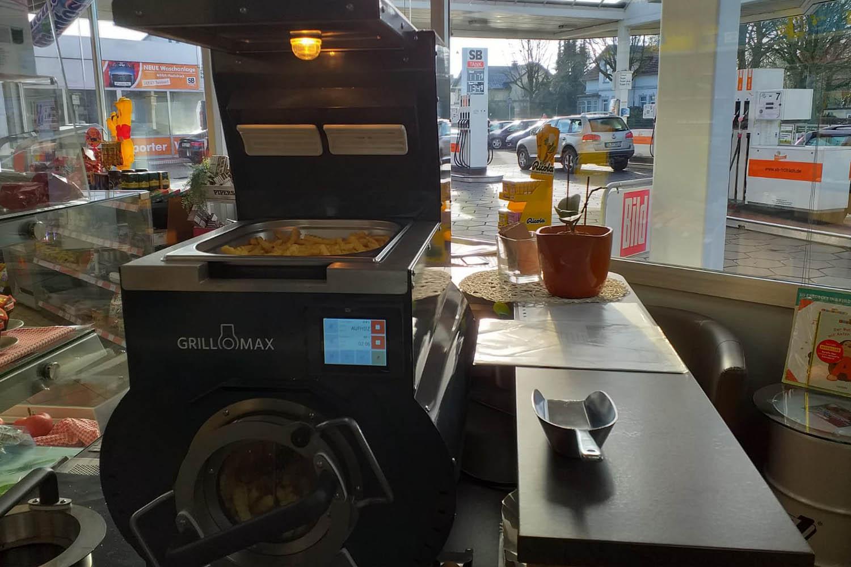 Tankstelle Grillomax Pomstation fettfreie Pommes   snackconnection