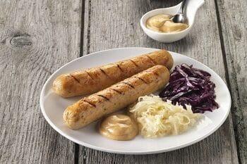 Quorn Bratwurst mit Sauerkraut
