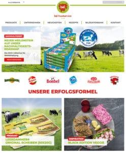bel foodservice website relaunch neu 2019