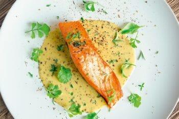 Fischgericht mit Sauce von Homann