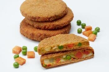Veggie Burgerpatty mit gemüsefüllung / snackconnection