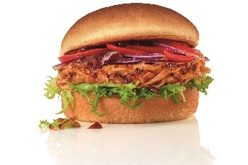 Salomon Pulled Chicken Burger