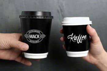 Kaffeebecher Verpackungen Rausch