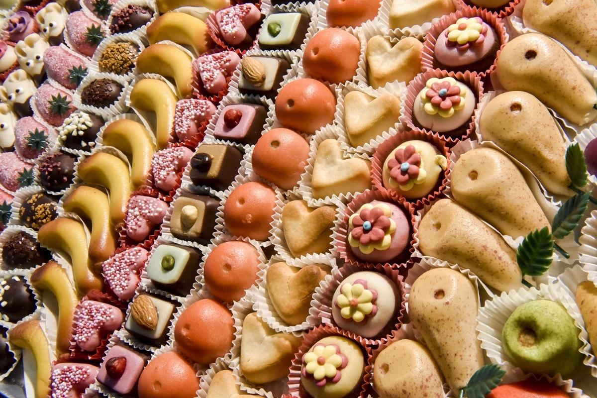 Süße Pralinen auf der ISM