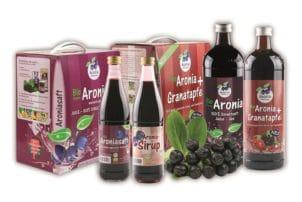 Granatapfelsäfte- und sirup von Aronia