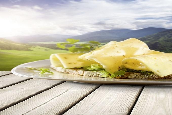 Ein Käsesandwich von Frischpack
