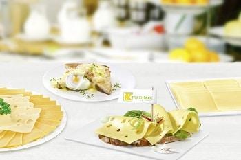 Frischpack Käse zum Frühstück Käsebrötchen Hotel