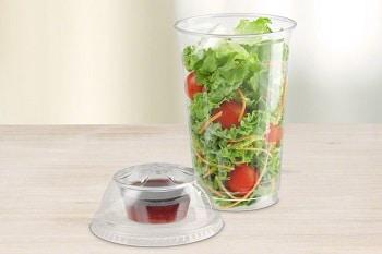 Dressing Salatverpackung von RAUSCH Verpackung für Salat Snacks