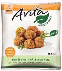 Schne-frost Avita Gemüse Reis Bällchen Asia Snack Packung