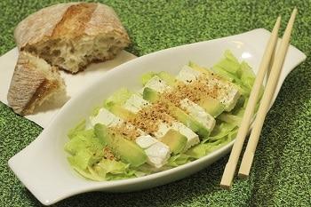 veggie und vegan Avocado Salat veggie Snack