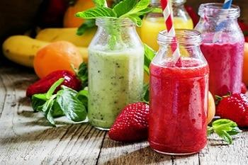 vegetarisch und vegan veggie gesunde Säfte