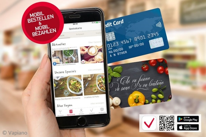 Vapiano mobile payment digitalisierung