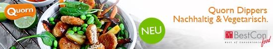 Top Banner, Quorn Dippers – Nachhaltig und vegetarisch 550x100px