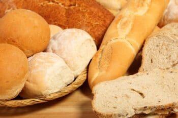 Brot und Brötchen Auslage