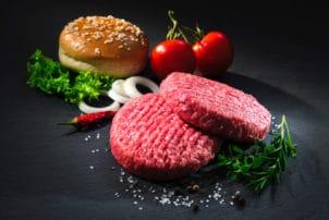 Fleisch Patty mit Burger Bun