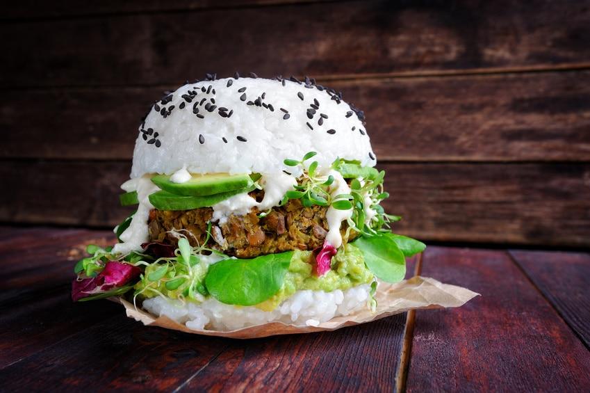 Burger-vegan-vegetarisch-Sushi-Reis