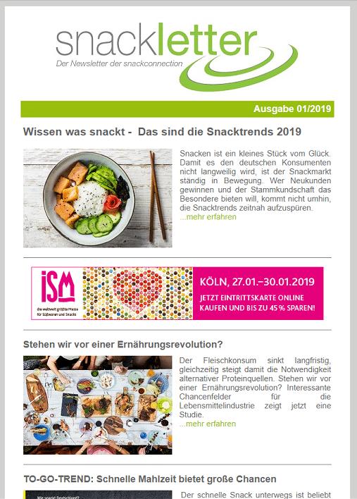 snackconnection newsletter snack gastro