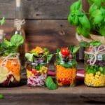 Gemüse_Glas_Basilikum_Snack