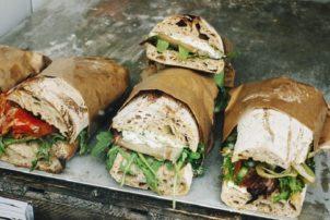 Ciabatta belegt Brot Sandwich Bäcker