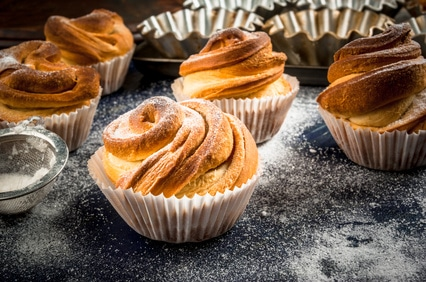 Cruffin Muffin Croissant süß Gebäck