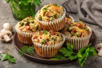 Muffin herzhaft Gemüse Speck Pilze Spargel