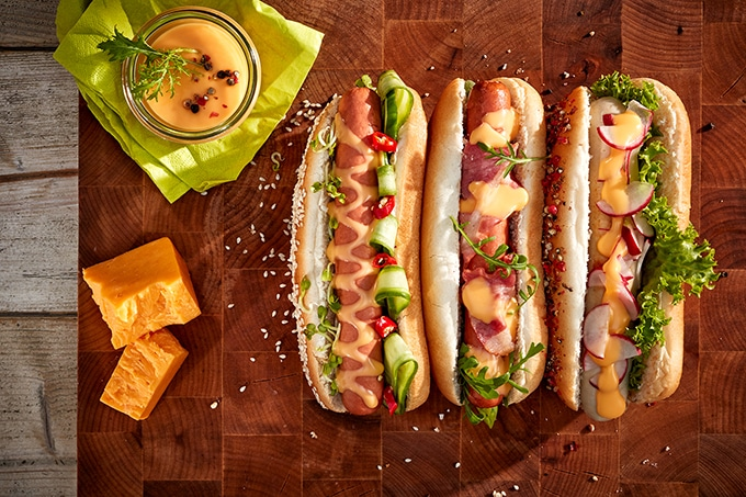 Hot Dog_Käsesauce_Cheese_Cheddar_Dairygold
