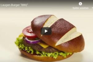 Laugen Brötchen Burger BBQ Ditsch