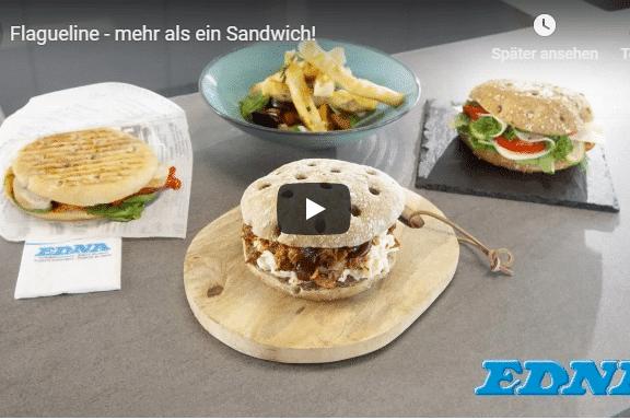 Sandwich Flaguelines Video Zubereitung französisch edna